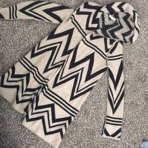 Chevron long cardigan sweater GUC Small